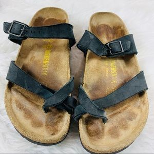 😀 Birkenstock Slip On Sandals Size W8.5-9